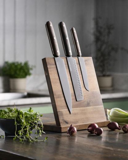 Orrefors Jernverk knivsæt - 3 knive + en knivblok